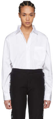 Vetements White Open Back Shirt