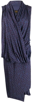 Vivienne Westwood Pre-Owned knitted wrap-front dress