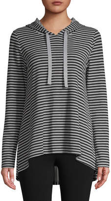 ST. JOHN'S BAY SJB ACTIVE Active Womens Hooded Neck Long Sleeve Tunic Top