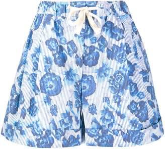 Pringle floral stripe shorts