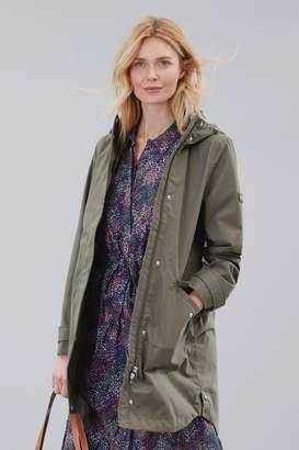 Joules Womens Green Loxley Longline Waterproof Jacket - Green