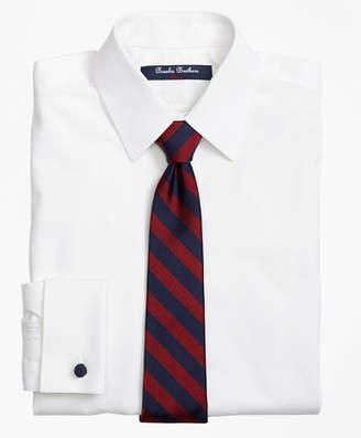 Brooks Brothers Boys Non-Iron Supima Pinpoint Cotton French Cuff Dress Shirt