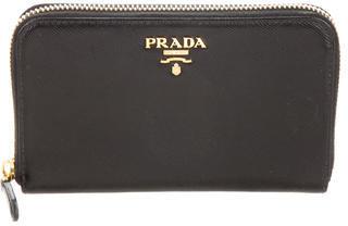 pradaPrada Saffiano Zip Wallet