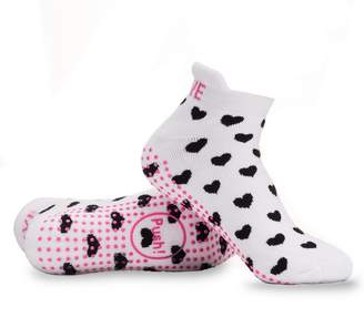 Baby Be Mine Labor and Delivery Non Skid Heart Socks by Maternity (6-9, )