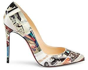 Christian Louboutin Women's Pigalle Follies 100 Printed Patent Leather Pumps