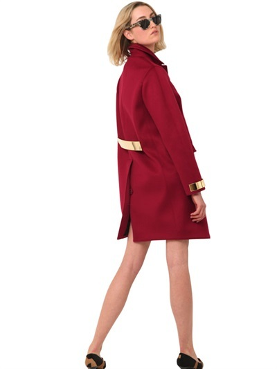 Burberry Cashmere Cloth With Metal Caban Coat