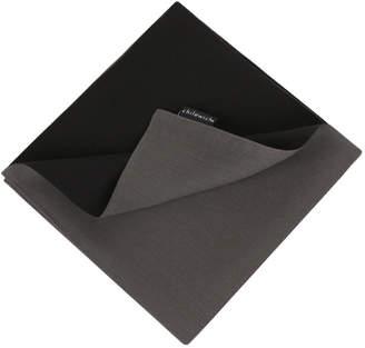 Chilewich Double Linen Napkin - Smoke/Black