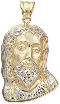 Macy's Two-Tone Christ Pendant in 14k Gold & White Gold