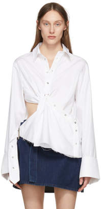 Marques Almeida White Draped Cut-Out Shirt