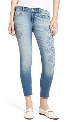 Wit & Wisdom Embroidered Seamless Ankle Skinny Jeans