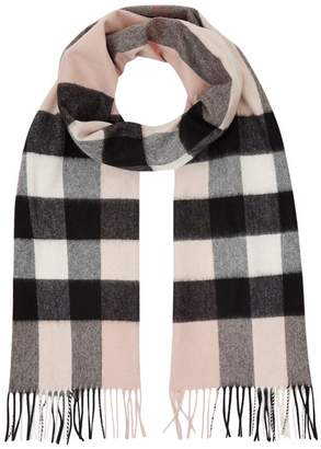 Burberry Large Classic Check Cashmere Scarf