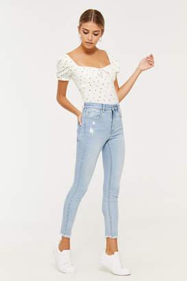 Lottie Moss Ripped Jeans