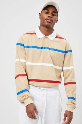 Forever 21 American Stitch Striped Polo Shirt