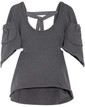J.W.Anderson Frayed Cotton-Blend Jersey Top