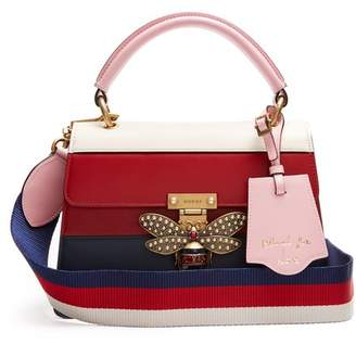 Gucci - Queen Margaret Leather Shoulder Bag - Womens - Red Multi