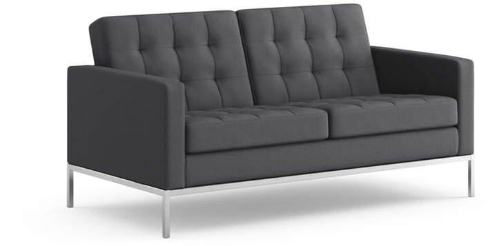 Knoll International Knoll - Florence Sofa 2-Sitzer / Hopsack, charcoal