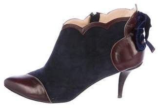 O Jour Leather Cap-Toe Booties