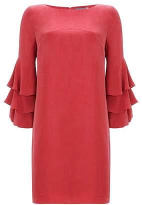 Mint Velvet Berry Ruffle Sleeve Dress