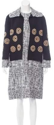 Michael Van Der Ham Embellished Jacquard Coat