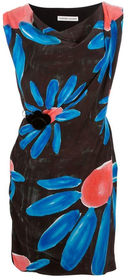 Tsumori Chisato contrast daisy print dress