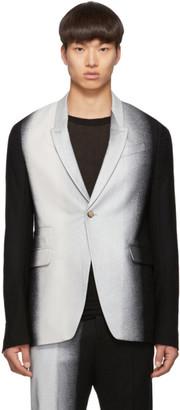 Rick Owens Black and Silver Degrade Soft Blazer