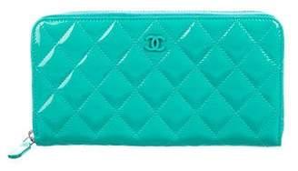 Chanel Patent L-Gusset Wallet