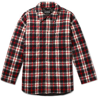 Balenciaga Oversized Quilted Checked Cotton-Flannel Coat