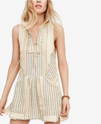 Free People All Right Now Hooded Mini Dress $108 thestylecure.com