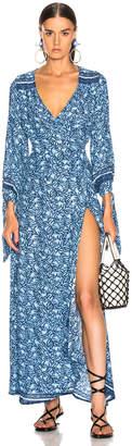 Natalie Martin Danika Long Sleeve Dress in Blue Coral | FWRD