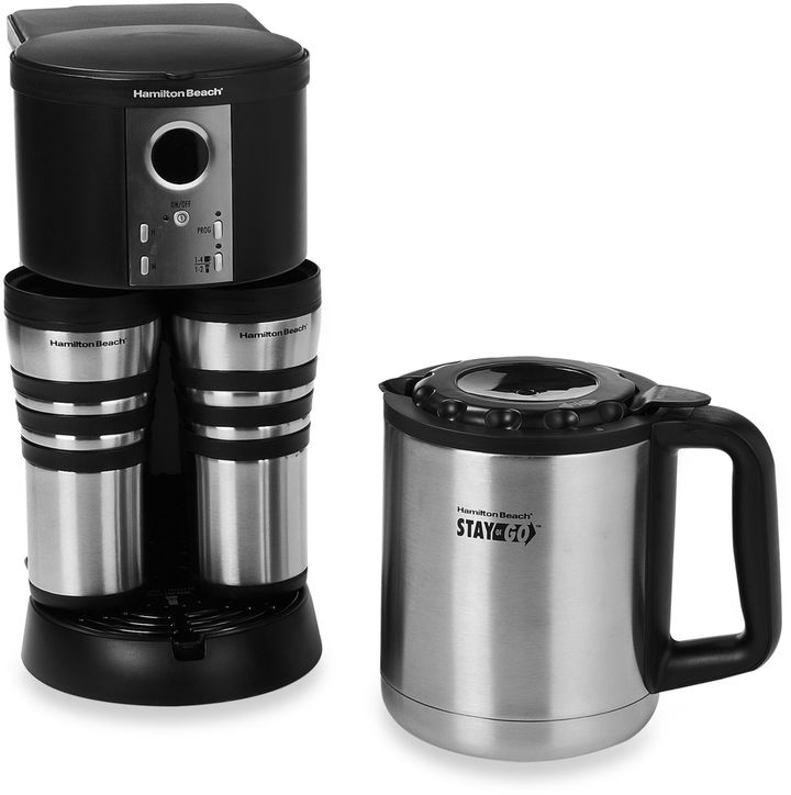 Hamilton Beach Stay or Go® Custom PairTM Thermal Stainless Steel Coffee Maker