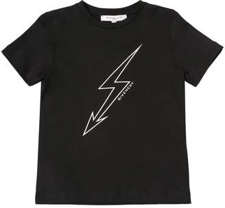 Givenchy Lightning Print Cotton Jersey T-Shirt