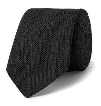 Lanvin 7cm Silk-Grenadine Tie - Men - Black