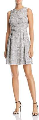 Aqua Sleeveless Tweed Fit-and-Flare Dress - 100% Exclusive