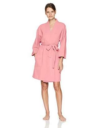 Arabella Amazon Brand Women's Knit Waffle Wrap Robe
