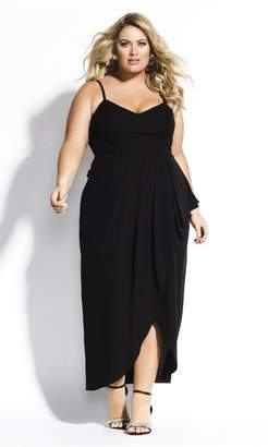 City Chic Citychic Romance Maxi Dress - black