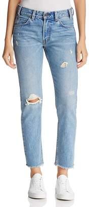Levi's 505C High Rise Crop Jeans $98 thestylecure.com
