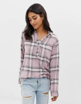Abercrombie & Fitch drapey check shirt