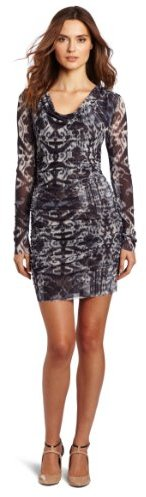 Sweet Pea Women's Rouched Long Sleeve Dress