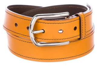 Prada Leather Buckle Belt