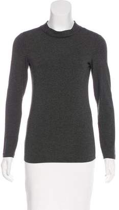 Armani Collezioni Long Sleeve Mock Neck Top