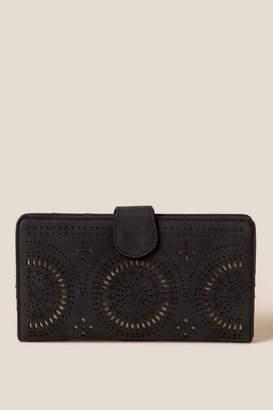 francesca's Giannina Perforated Wallet - Marigold