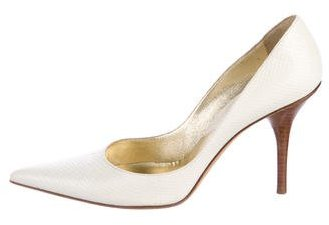 Michael Kors Embossed Pointed-Toe Pumps