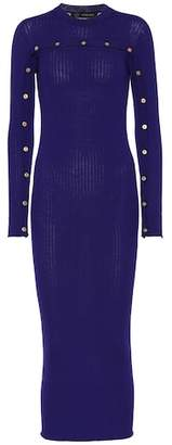 Versace Ribbed wool dress