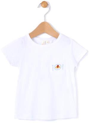 LAGOM (ラーゴム) - ラーゴム 1ポイント刺繍ポケットTシャツ