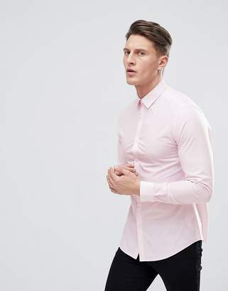 New Look Poplin Shirt In Pink