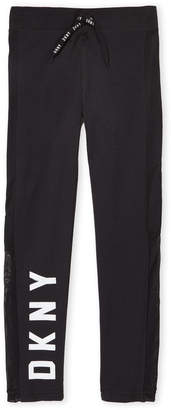 DKNY Girls 7-16) Perforated Racer Stripe Pants