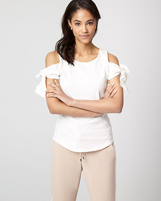 Le Château Cotton Jersey Cold Shoulder Top
