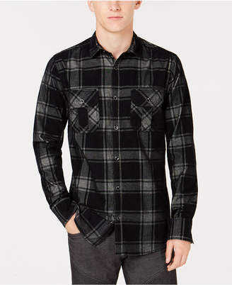 INC International Concepts I.n.c. Men's Dual-Pocket Plaid Shirt, Created for Macy's