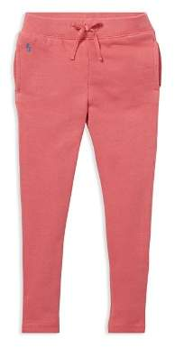 Ralph Lauren Girls' French Terry Jogger Pants - Little Kid