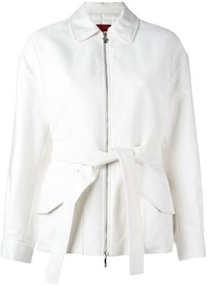 Moncler Gamme Rouge padded belted jacket